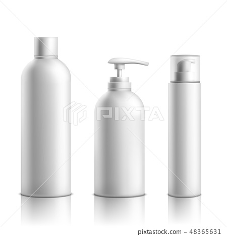 Cosmetics products packaging realistic vector set 48365631