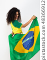 Supporter of the Brazil football team 48366912