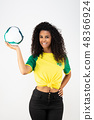 Supporter of the Brazil football team 48366924
