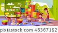 Babies playing in kindergarten cartoon vector 48367192