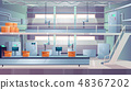 Industry production plant interior cartoon vector 48367202