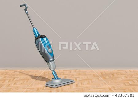 Steam mop in the room, 3D rendering 48367583