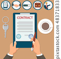 Vector Illustration Signing Contract Certification 48371833