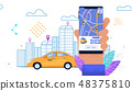 Flat Banner Yellow Automobile Worker Free Ride. 48375810