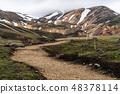 Road to Landmanalaugar on highlands of Iceland. 48378114