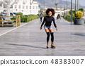 woman, rollerskating, female 48383007