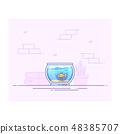 Fishbowl icon design 48385707