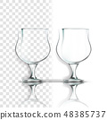 Transparent Glass Vector. Single Shape. Luxury Icon. Empty Clear Glass Cup. For Water, Drink, Wine 48385737