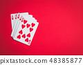 Poker cards. Royal flush. 48385877