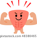 근육의 캐릭터 48386465