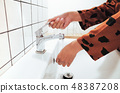 Washing hands practice good personal hygiene 48387208