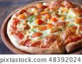 근접 촬영 한 상용 보통 피자 48392024