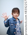 Casual (summer clothing spring clothes one piece denim girls Japanese jacket girls 3 year old fashion) 48392257