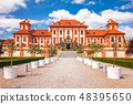 View of Troja Palace, located in Prague. 48395650