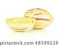 Fresh striped pepino melon isolated on white 48399226
