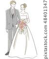 新婚夫婦 48401347