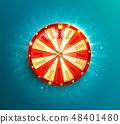 Symbol of spinning fortune wheel. 48401480