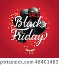 Black Friday Sale banner. 48401483