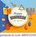 Happy hanukkah card. 48401549