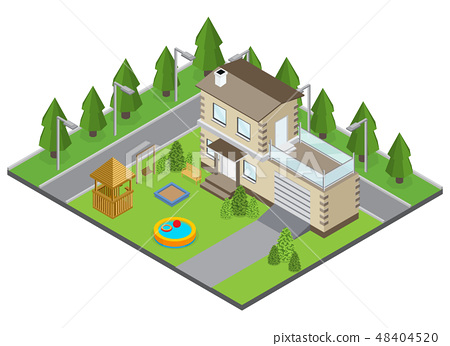 Country Building Illustration 48404520
