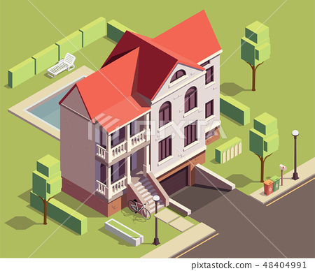 Suburban Residential Building Composition 48404991