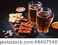 beer and snacks set. pub, restaurant, bar food 48407546