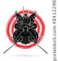 Group of Samurai graphic vector 48412296