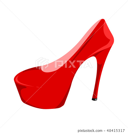 Women's red patent leather shoe 48415317