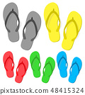 Set of summer flip flops 48415324
