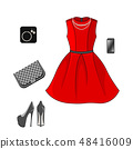 Set of fashion clothes 48416009