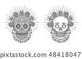 두개골, 벡터, 여성 48418047