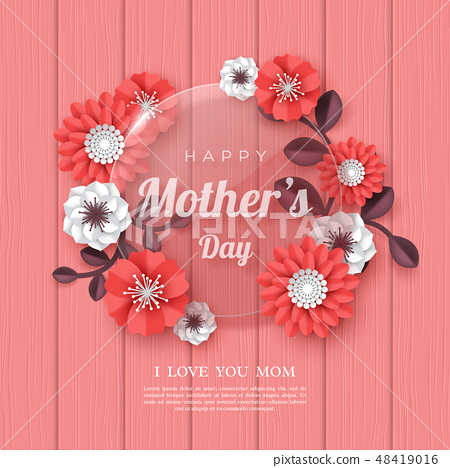 Happy Mothers day greeting card. 48419016