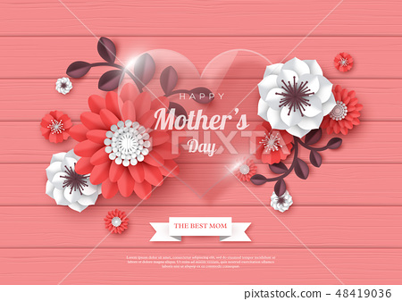 Happy Mothers day greeting card. 48419036