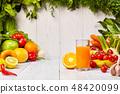 Various Freshly Vegetable Juices for Detox 48420099