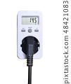White Wattmeter with  AC power plugs 48421083