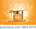 Cosmetic vector background with honey drips 48421678