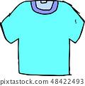 T 셔츠 무지 러프 스케치 손으로 그린 48422493