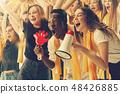 stadium soccer fans emotions portrait 48426885