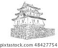 Takamatsu Castle 100 Great castle illustration 48427754
