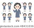 被設置的人例證整體變異:中年婦女女商人 48431036