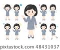 被設置的人例證整體變異:女性女商人 48431037