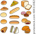 Various breads 48431082