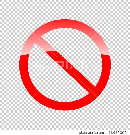 Not Approved Ban Symbol on Transparent Background 48432005