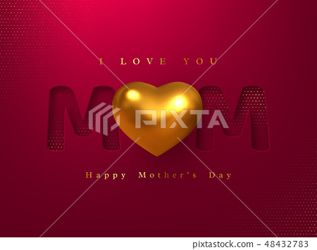 Happy Mothers day greeting card. 48432783