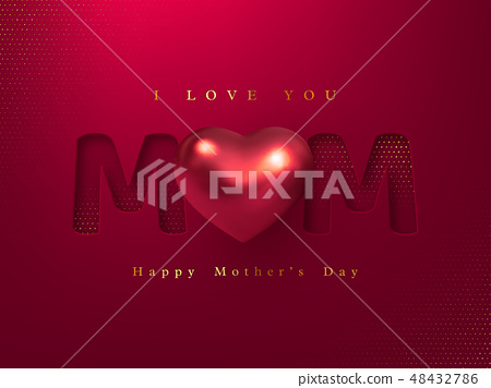 Happy Mothers day greeting card. 48432786