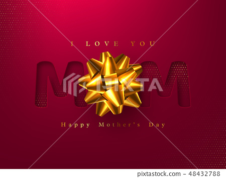 Happy Mothers day greeting card. 48432788