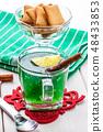 Jelly with kiwi and lemon. 48433853