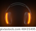 wireless headphone for gamers with modern design. 3d illustration 48435495