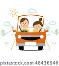流行夫婦開車天氣允許的一天 48436946