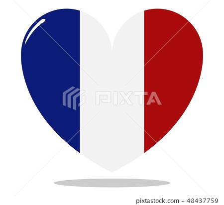 france flag with heart 48437759